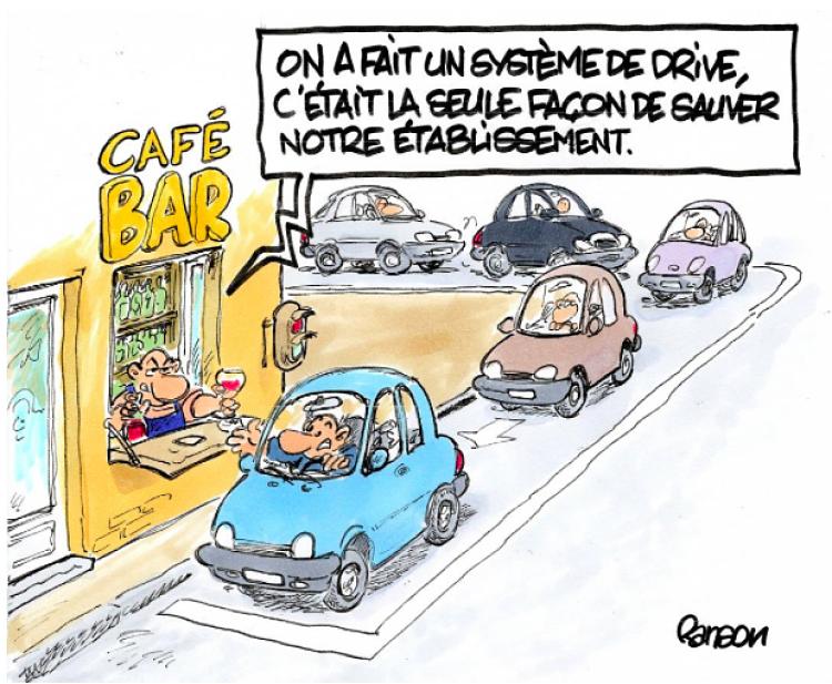Drive-café, toute une histoire